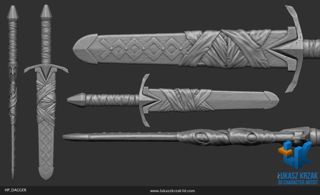 lukasz_krzak_3d_artist_hp_dagger_sheeth_1